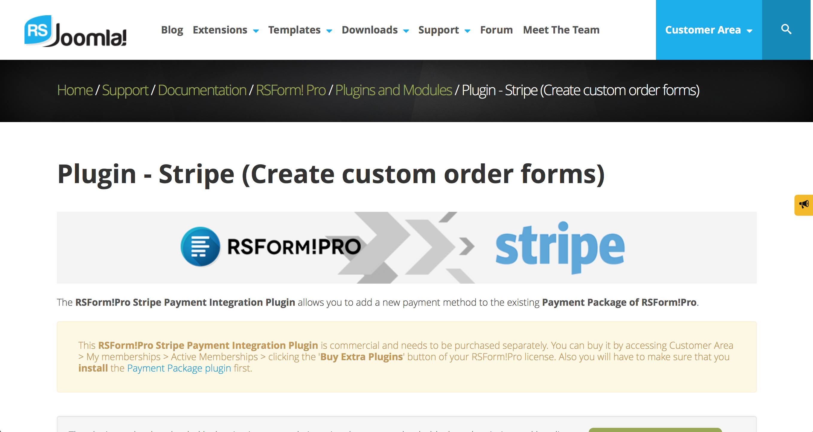 RSForm!Pro and Stripe - Automatically Adding the Fee